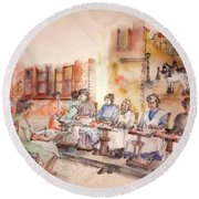 Of Clogs And Windmills Album Round Beach Towel