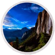 Pictures Of Landscape Round Beach Towel