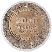 2000 Million Years Ago Round Beach Towel