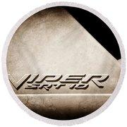 2006 Dodge Viper Srt 10 Emblem -0062s Round Beach Towel