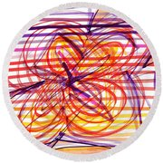 2007 Abstract Drawing 2 Round Beach Towel