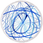2007 Abstract Drawing 3 Round Beach Towel