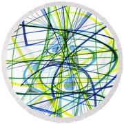 2007 Abstract Drawing 5 Round Beach Towel