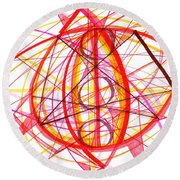 2007 Abstract Drawing 6 Round Beach Towel
