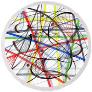 2007 Abstract Drawing 7 Round Beach Towel