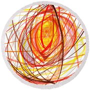 2007 Abstract Drawing 8 Round Beach Towel