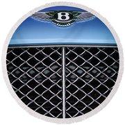2007 Bentley Continental Gtc Convertible Hood Ornament Round Beach Towel