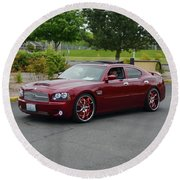 2007 Dodge Charger Couture Round Beach Towel