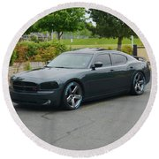 2007 Dodge Charger Rt Lee Round Beach Towel
