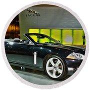 2007 Jaguar Xkr Convertible R No 1 Round Beach Towel