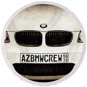 2008 Bmw Grille Emblem -1136s Round Beach Towel