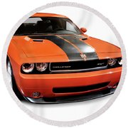 2008 Dodge Challenger Srt Muscle Car Round Beach Towel
