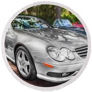 2008 Mercedes Benz Sl500 V8 Coupe Painted   Round Beach Towel