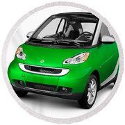 2008 Smart Fortwo City Car Round Beach Towel