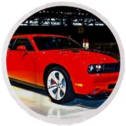 2009 Dodge Challenger Number 2 Round Beach Towel