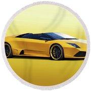 2009 Lamborghini Murcielago Roadster II Round Beach Towel