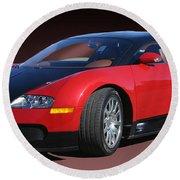 2010 Bugatti Veyron E. B. Sixteen Round Beach Towel