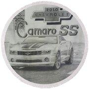 2010 Chevrolet Camaro Ss  Round Beach Towel