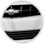2010 Chevrolet Nickey Camaro Ss Grille Emblem -0078bw Round Beach Towel