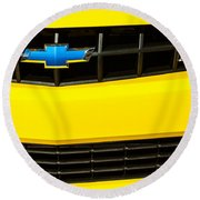 2010 Nickey Camaro Grille Emblem Round Beach Towel