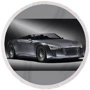 2011 Audi Etron Spyder Round Beach Towel