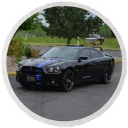 2011 Dodge Charger Rt Lopez Round Beach Towel