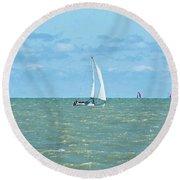 2012 08 11 Chicago Dsc_1630 Round Beach Towel