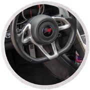 2012 Mc Laren Steering Wheel Round Beach Towel