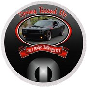 2013 Dodge Challenger Rt Wheeler Round Beach Towel