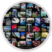 2014 - 2015 Arizona Concours D'elegance Art -03 Round Beach Towel