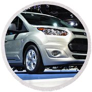 2014 Ford Transit Connect Wagon Round Beach Towel