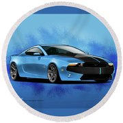 2014 Mustang  Round Beach Towel
