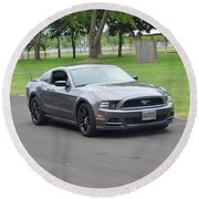 2014 Mustang Kindel Round Beach Towel