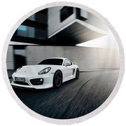 2014 Techart Porsche Cayman Round Beach Towel
