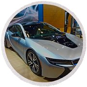 2015 Bmw I8 Hybrid Round Beach Towel
