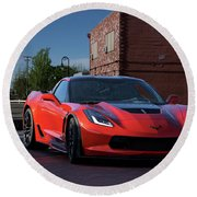 2015 Corvette Stingray  Round Beach Towel