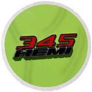 2015 Dodge Challenger R/t Round Beach Towel