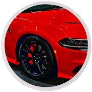 2015 Dodge Charger Srt Hellcat Round Beach Towel