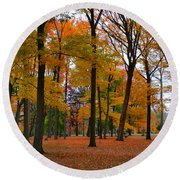 2015 Fall Colors - Washington Crossing State Park-1 Round Beach Towel