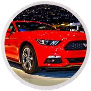 2015 Ford Mustang Coupe I4 Premium Round Beach Towel