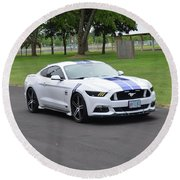 2015 Ford Mustang Gt James Tami Round Beach Towel