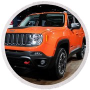 2015 Jeep Renegade Trailhawk Number 3 Round Beach Towel
