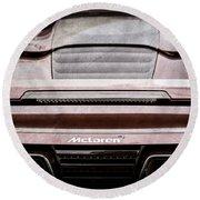 2015 Mclaren 650s Spider Rear Emblem -0011ac Round Beach Towel