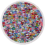 2015036 Genesis Chapters 21 And 22 Round Beach Towel
