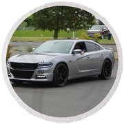 2016 Charger Rt Rice Round Beach Towel