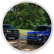 2016 Chevrolet Colorado Midnight Edition Trail Boss Round Beach Towel