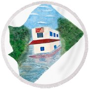 2016 Dc Ward Story Collection - Ward 7 Of 8 Round Beach Towel