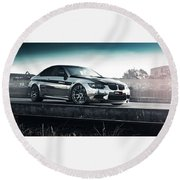 2016 Fostla De Bmw M3 Coupe 2 Round Beach Towel