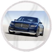 2016 Lincoln Continental Concept Round Beach Towel