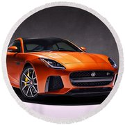 2017 Jaguar F Type Round Beach Towel
